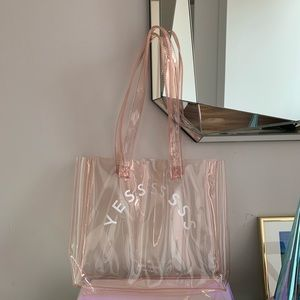 Kate Spade Limited Edition Clear Pink Tote